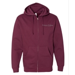 Unisex Hooded Zip-Up Sweatshirt