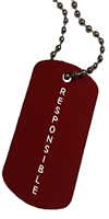 BRAG TAG NECKLACE Red Responsible