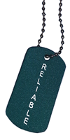 BRAG TAG NECKLACE Teal Reliable