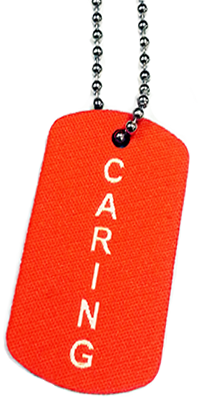 BRAG TAG NECKLACE Orange Caring