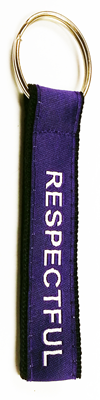 Key Strap Purple Respectful