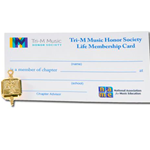 Tri-M Alumni Pin and Card