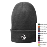 Fleece-lined knit cap