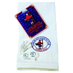 Embroidered  Tri-Fold towel, Tee Pack & Diamond Tag in Gift Box